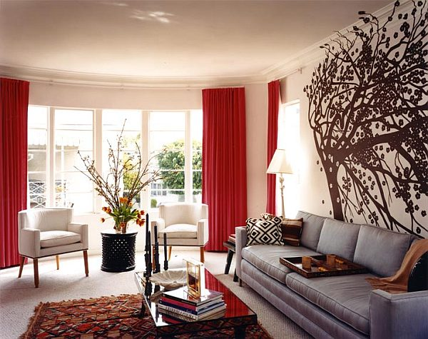 Decorating with cherry floor to ceiling curtains Sweet and Sour: Mixing Cherry Limeade & Splashing It in Our Homes for a Refreshing Interior