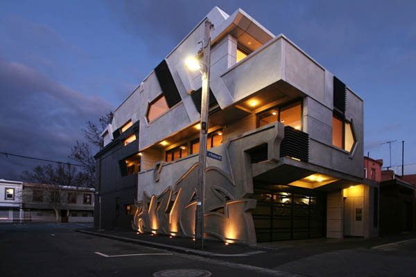 Dynamic Urban Home Melbourne Enigmatic Melbourne House With Hip Exterior Design & Unusual Interior