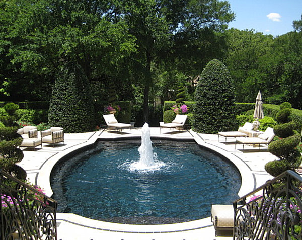Cool and fabulous pool terrace design ideas for English garden pool