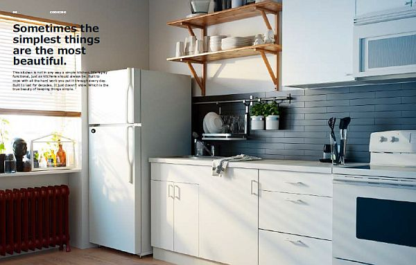 IKEA 2013 Catalog Simple White Kitchen Design