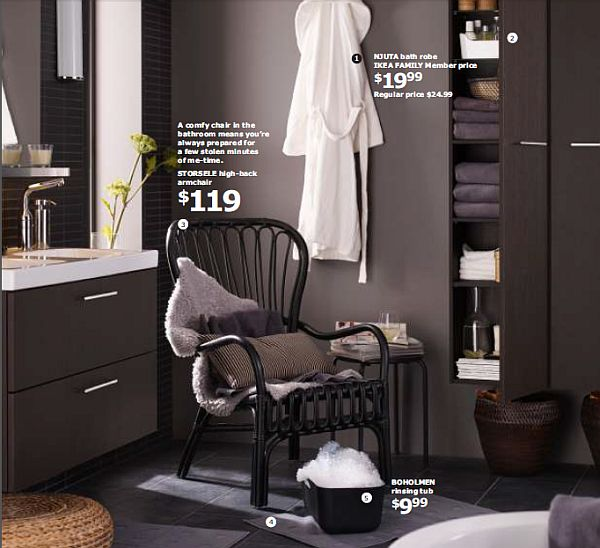 IKEA 2013 Catalog – brown and white bathroom decor