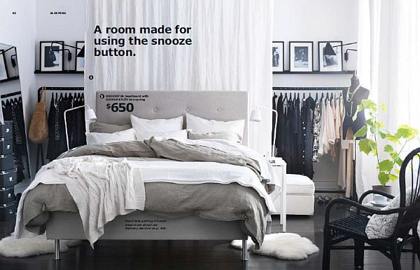 IKEA 2013 Catalog – grey and white bedroom design