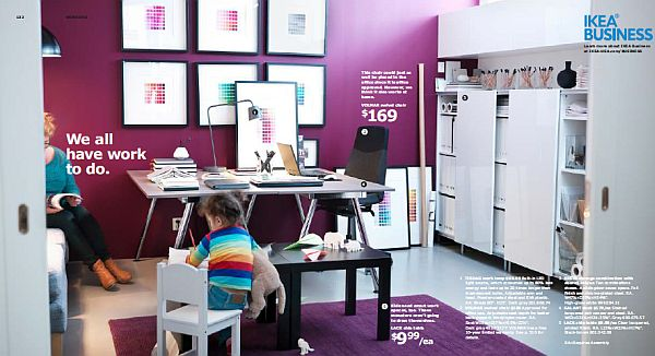 IKEA 2013 Catalog – purple and white home office