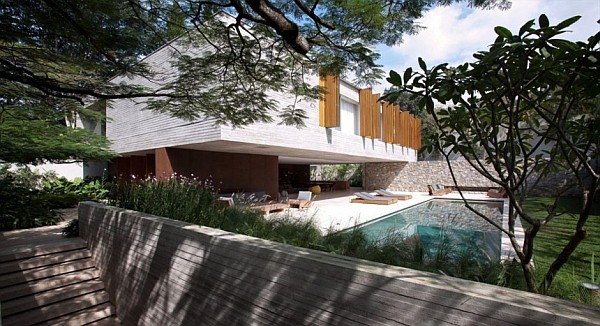 Ipes House Marcio Kogan 1 Ipes House: Boxed delight wrapped up in wood and concrete