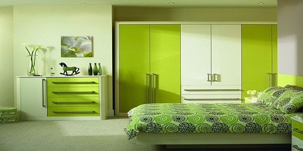 Lime green modern bedroom design decoist - Beautiful pictures of lime green bedroom decoration design ideas ...