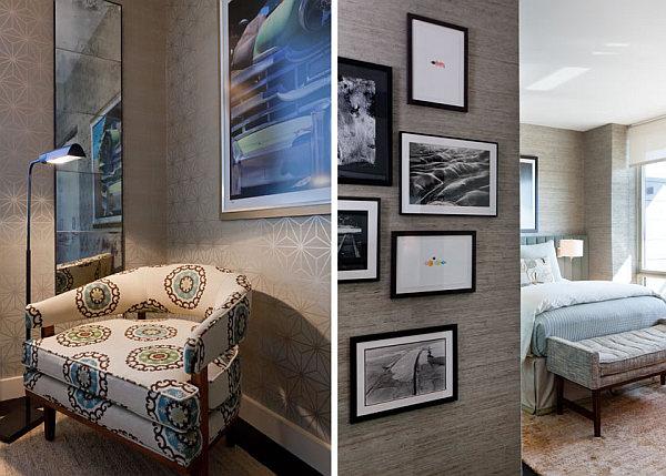 Manhattan condo design with midcentury accents