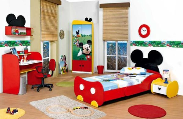 mickey mouse themed bedroom makes a grand and glorious appearance an