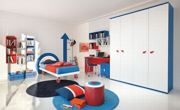 Modern children's bedroom with ample space