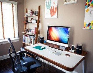 Modern Minimalist Home Office Desk Amalgamates Ergonomic Design With Elegant Form