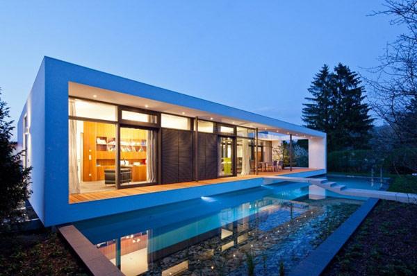 Rectangular Houses rectangular c1 house in germany amalgamates sleek form and