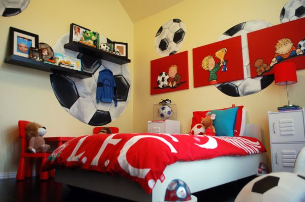 Soccer bedroom with a simple twist