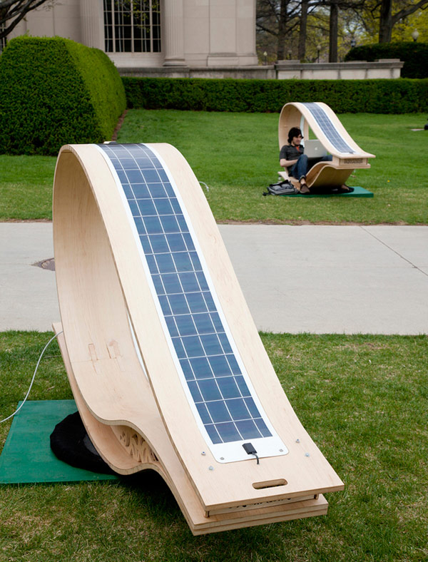 Solar Powered Sun Lounger Solar Powered Lounger Will Charge Gadgets in Glowing Style