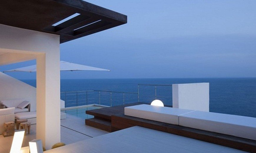 Minimalistic Spanish Home Offers Stunning Views of the Sea & a Refreshing Dip in Its Breathtaking Pool
