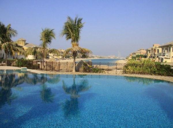 The exterior of a Palm Jumeirah villa