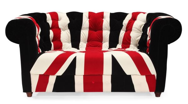 Union Jack Love Seat Sofa