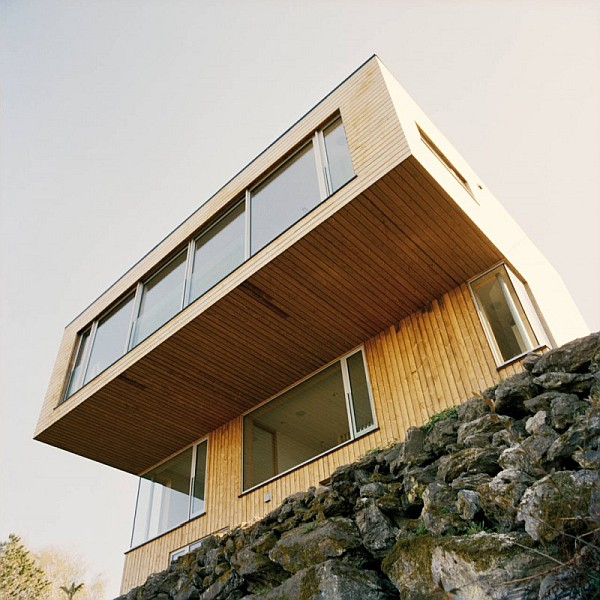 Wooden exterior house