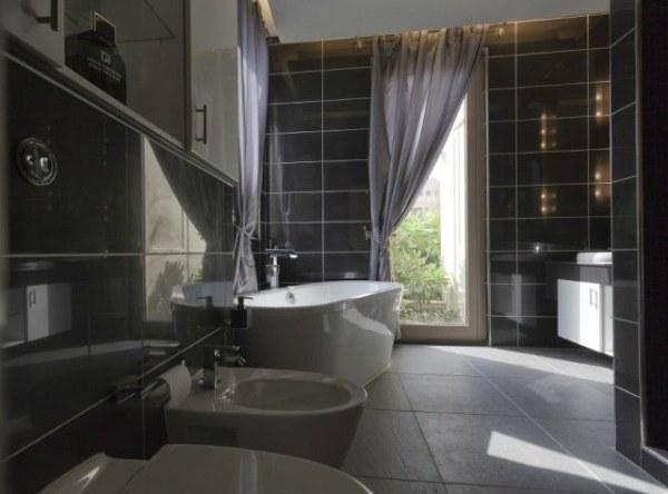 a contemporary villa bathroom