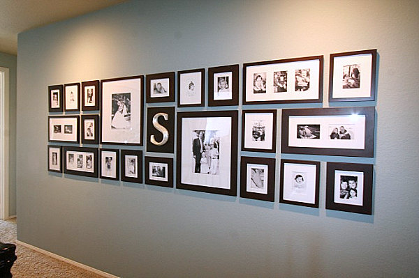 Picture Frame Wall Ideas helpful hints for displaying family photos on your walls
