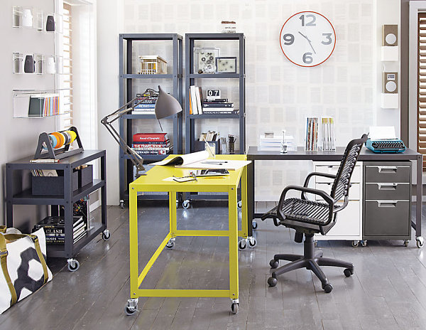 chartreuse metal desk