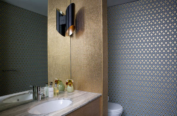 Melissa collison crafting contemporary homes with unique for Cool bathroom wallpaper