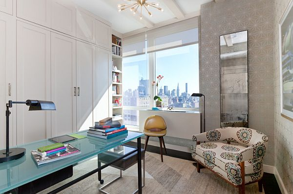 classy home office design in Manhattan condo