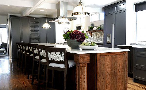 Comfy kitchen push seating