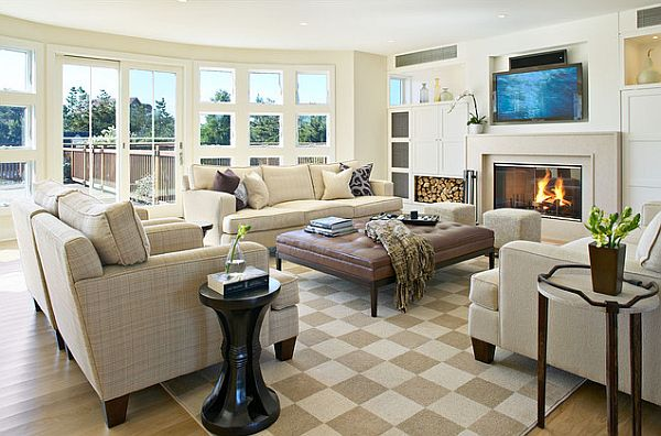 Four tricks to make your home more comfortable - Decorating a large living room ...