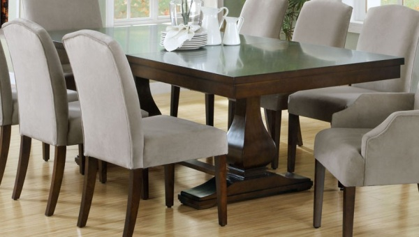 17 expandable wooden dining tables for Dark wood dining table
