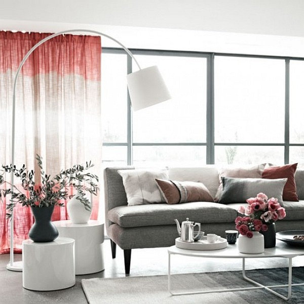 dip dyed ombre curtain