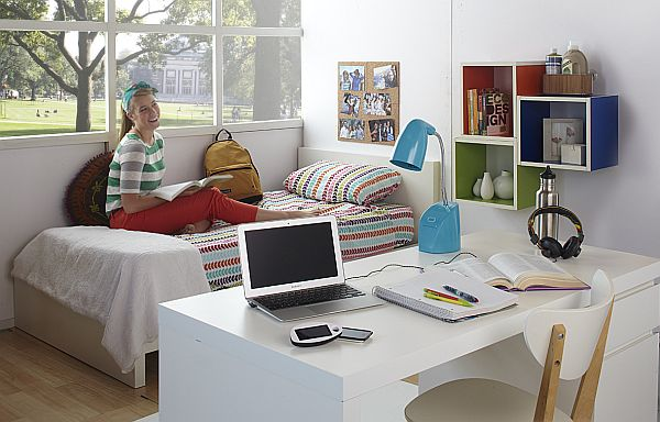 48 Ideas For A More Stylish College Dorm Custom Dorm Interior Design