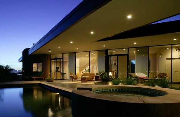 green design Riverfront Residence in Arizona 1 Contemporary Riverfront Residence in Arizona Has Green Design Elements