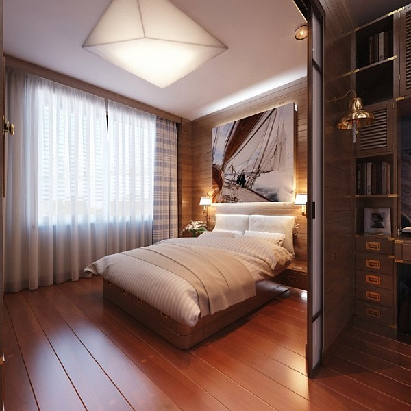View In Gallery Masculine Bedroom With Hardwood Walls View In Gallery Large  ...