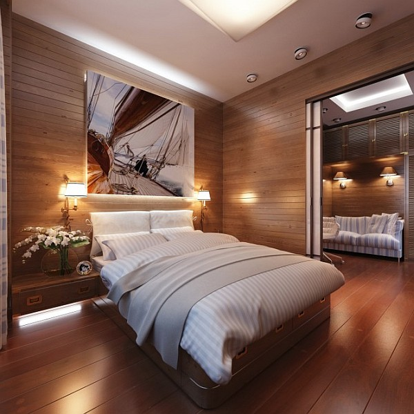 Wall Decor For Masculine Bedroom : Travel inspired bedroom designs are sophisticated and elegant