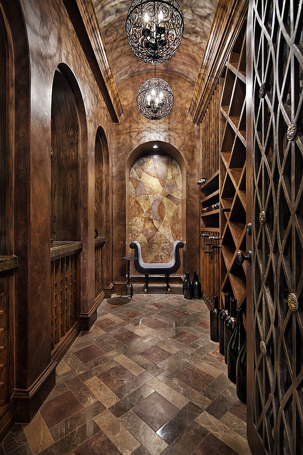 mediterranean wine cellar with french inspiration