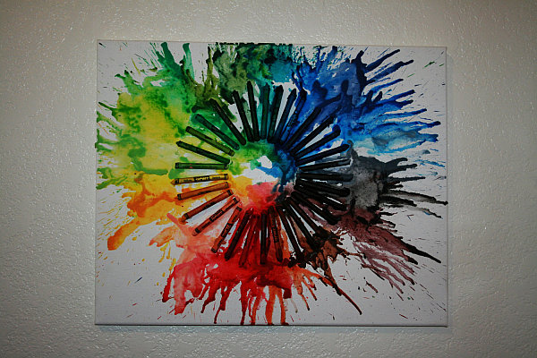 melted crayon art wall canvas