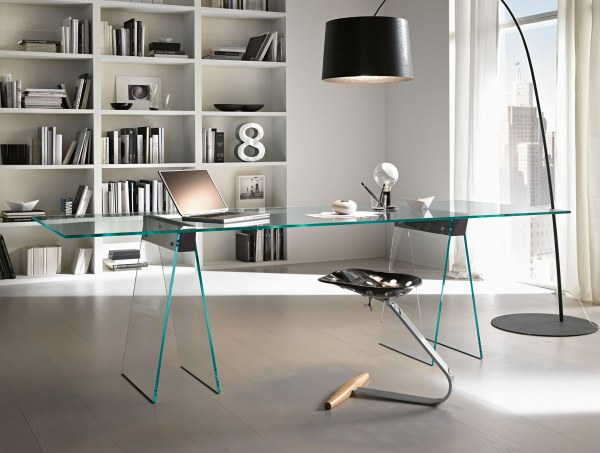 modern Italian glass desk