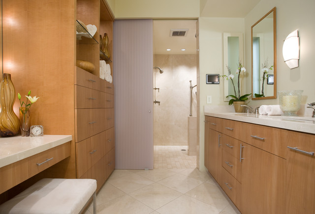 modern bathroom tile floor