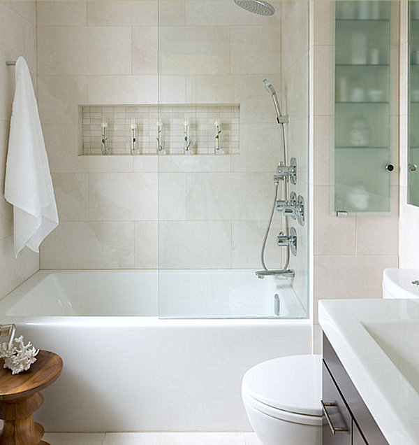 Modern Bathroom With White Tile