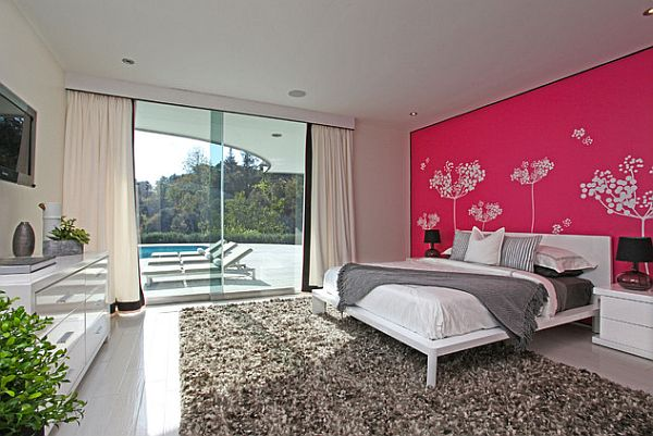 Pink inspiration decorating your home with pink for Interior design bedroom pink