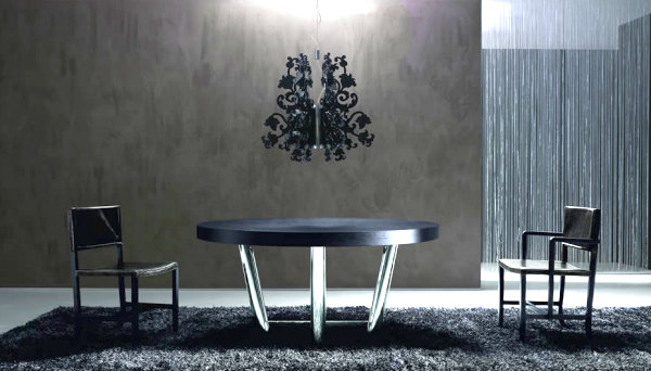 modern black Italian dining table