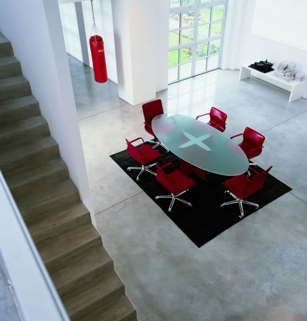 modern office meeting table and chairs