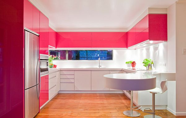 And while we?re at it, here?s a pink bathroom and a pink kitchen