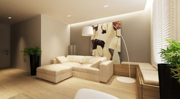 Neutral interiors for cool contemporary homes from for Neutral tone living room ideas