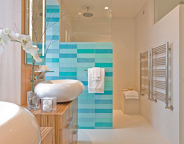 ocean blue bathroom tile