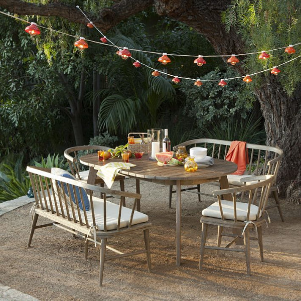 outdoor extendable dining room table