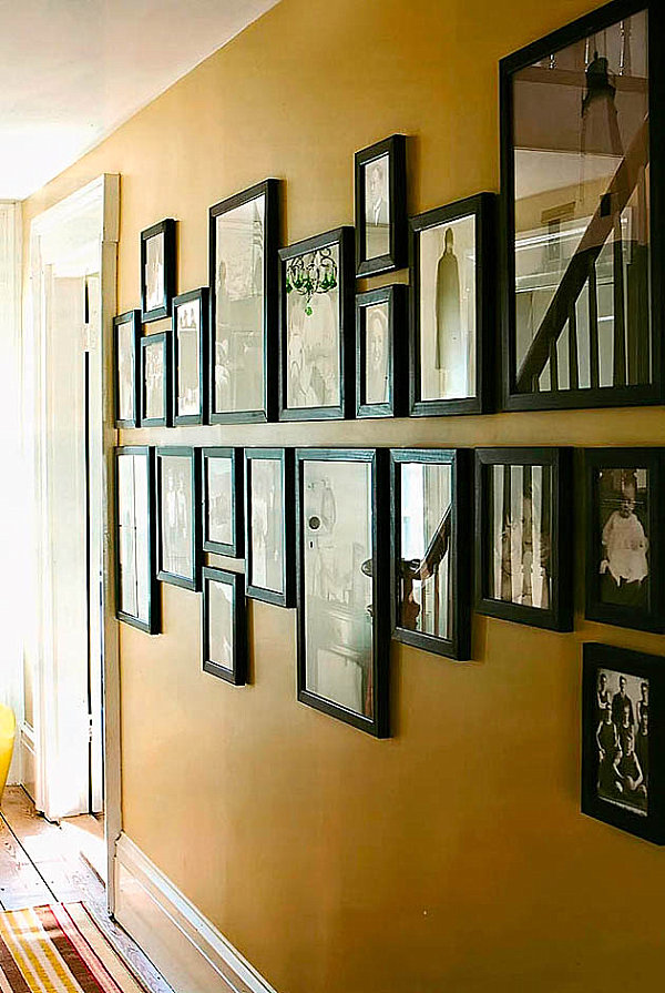 Helpful hints for displaying family photos on your walls Painting arrangements on wall