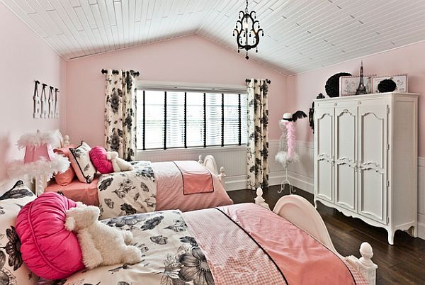 bedroom for teen girls   by Lori Schlegel View in gallery Modern. Pink Inspiration  Decorating Your Home With Pink