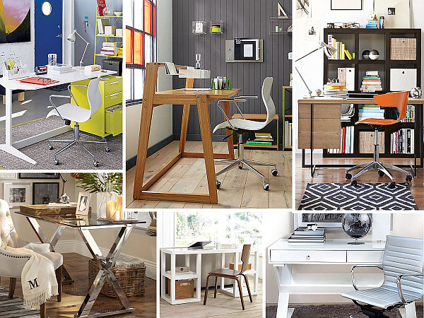sleek home office desk ideas 20 Stylish Home Office Computer Desks