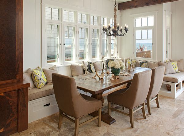 View In Gallery Traditional Dining Room With Comfy Bench