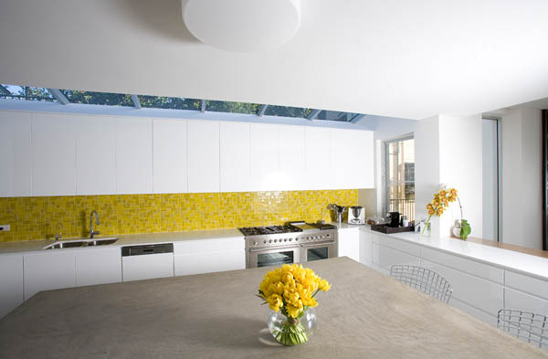 Wonderful View In Gallery White Kitchen Design With Yellow ...